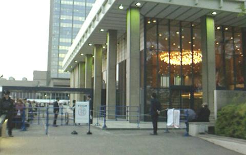 NHKホール前 うたコン入場待ち