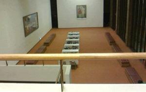 NHKホール2階の休憩スペース(NHKホールに入場したフロアと同じ高さのフロア)