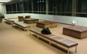 NHKホール3階の休憩スペース(NHKホールに入場して一つ上のフロア奥)