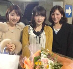 NHK 同期の上原光紀アナ、赤木野々花アナ、保里小百合アナ